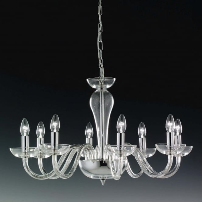 Elstead Lighting Oxford Italian Lead Crystal Eight Arm Chandalier