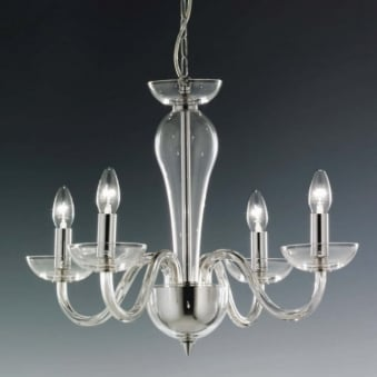 Oxford Italian Lead Crystal Four Arm Chandalier