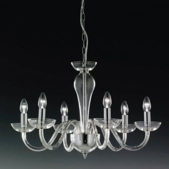 Oxford Italian Lead Crystal Six Arm Chandelier