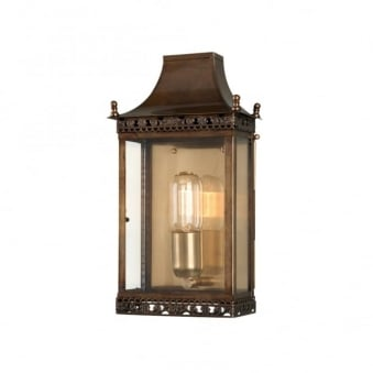 Regents Park Solid Brass Outdoor Wall Lantern