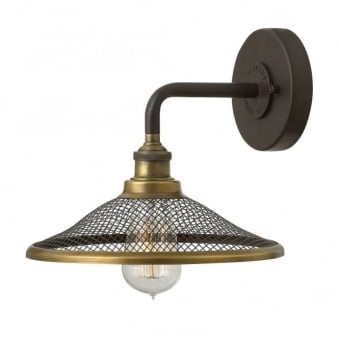 Rigby Wall Light in Buckeye Bronze