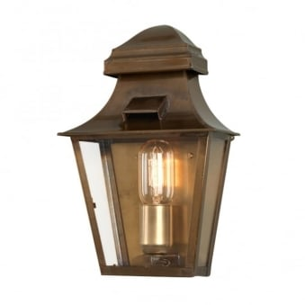 St Pauls Solid Brass Outdoor Wall Lantern