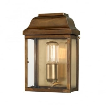 Victoria Solid Brass Outdoor Wall Lantern