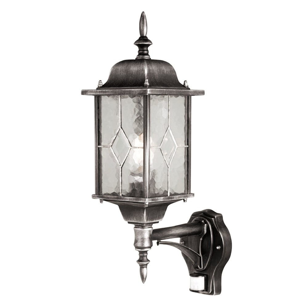 Lantern Type Wall Lights : Elstead Lighting Wexford Outdoor PIR Wall Lantern - Fitting Type from Dusk Lighting UK