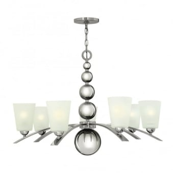 Zelda 7 Light Chandelier In Polished Nickel