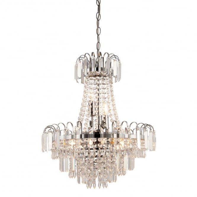 Endon Lighting Amadis 6 Light Glass Chandelier Pendant Light