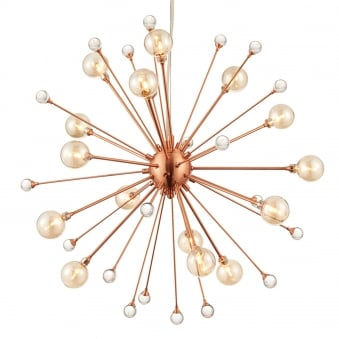 Beatrix Sputnik Style Brushed Copper Pendant Light