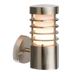 Bliss IP44 Outdoor Wall Light in Brushed Stainless Steel