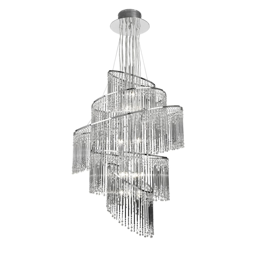 in dar chandelier image satin lighting ambassador pendant light chrome