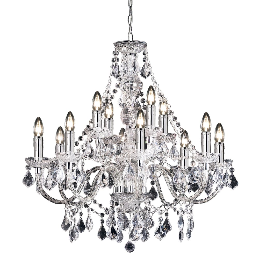 Clarence 12 Light Clear Acrylic Chandelier Pendant