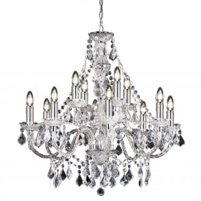 Clarence 12 Light Clear Acrylic Chandelier Pendant Light