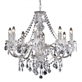 Clarence 8 Light Clear Acrylic Chandelier Pendant