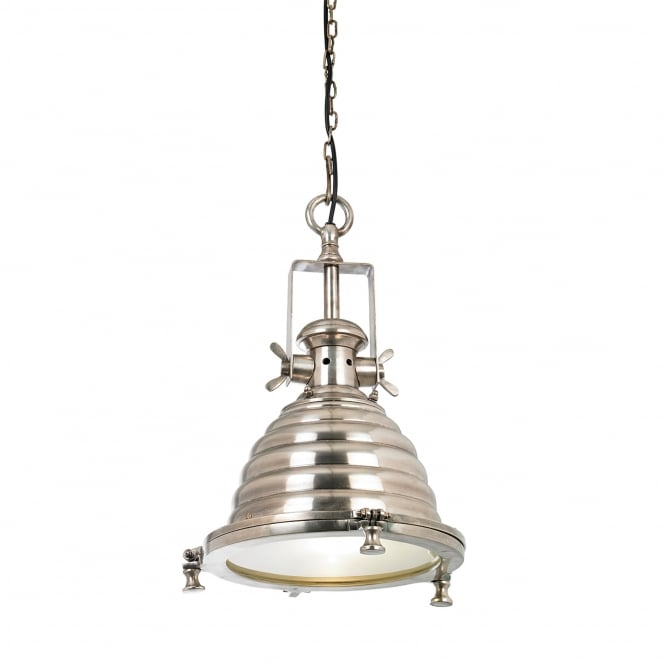 Endon Lighting Gaskell Beehive Pendant Light in Tarnished Silver Effect