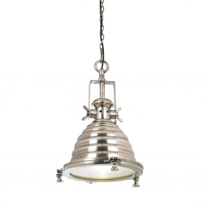 Gaskell Beehive Pendant Light in Tarnished Silver Effect