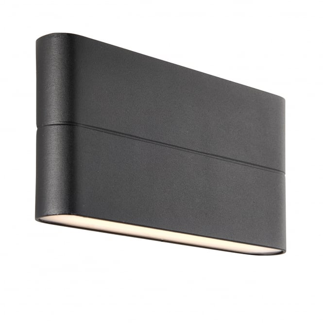Endon Lighting Hanford Slim 2 Light IP44 LED Outdoor Wall Light in Black