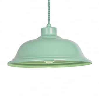 Laughton Light Green Pendant Light with Green and White Flex