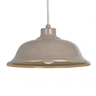 Laughton Light Slate Grey Pendant Light with Grey and White Flex