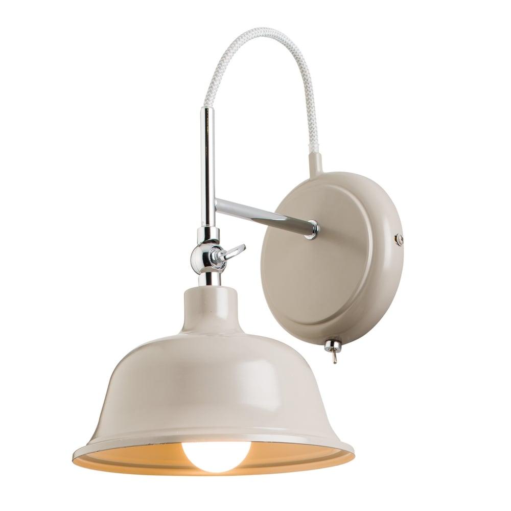 endon 60773 laughton slate grey and chrome wall light
