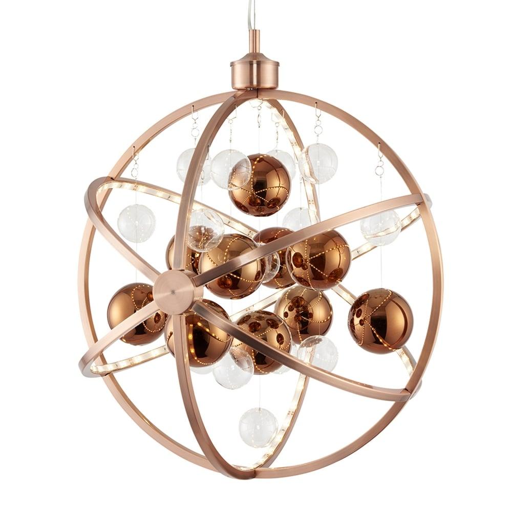Endon muni co muni 10w led clear and copper glass pendant light muni 10w led clear and copper glass sphere pendant light aloadofball Gallery