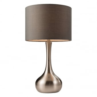 Picadilly Satin Nickel Touch Control Table Lamp