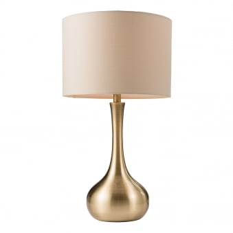 Picadilly Soft Brass Touch Control Table Lamp