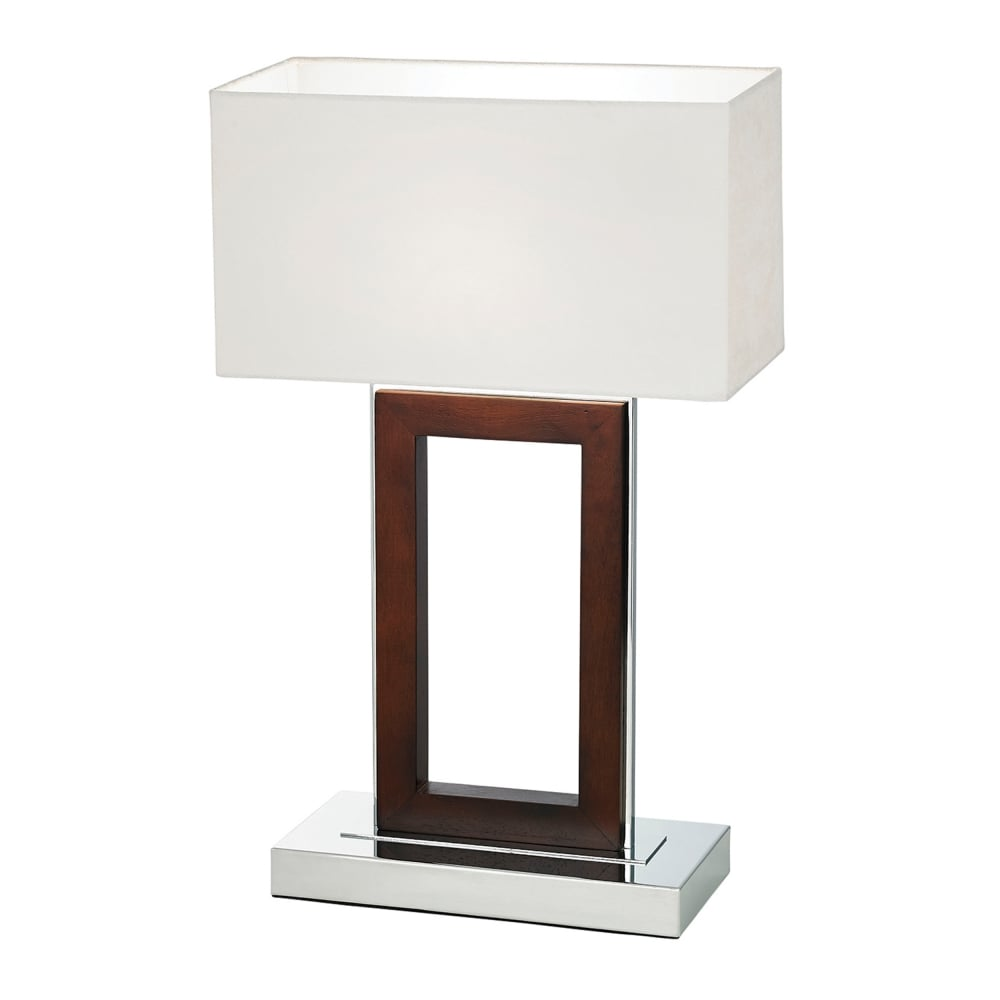 Endon 0195 dw portal table lamp in dark wood and polished chrome portal table lamp in dark wood and polished chrome aloadofball Choice Image