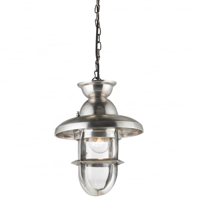 Endon Lighting Rowling Large Pendant in a Tarnished Effect Silver Finish