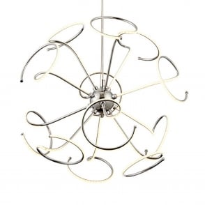 Sandy 12 Light LED Twisted Ceiling Pendant