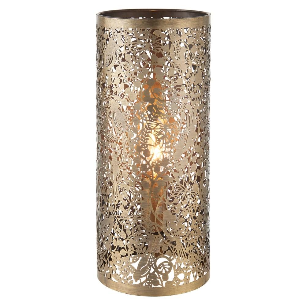 in Cut Garden Antique Out Table Lamp Secret Brass LpqSVGUzM