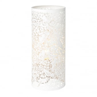 Secret Garden Cut Out Table Lamp in Matt Ivory