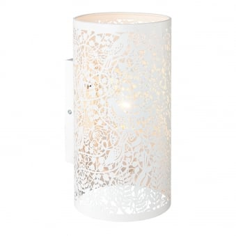 Secret Garden Cut Out Wall Light in Matt Ivory