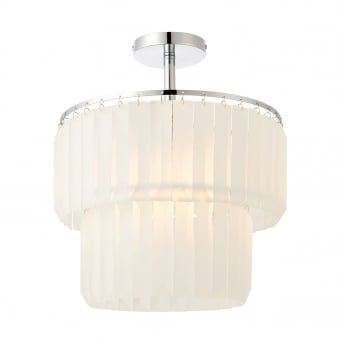 Selina Frosted Glass and Chrome Plate Semi Flush
