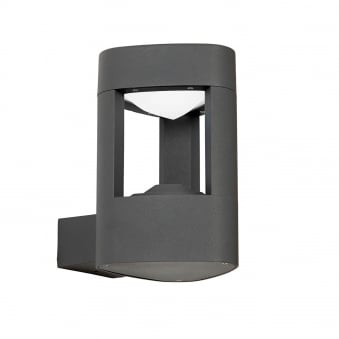Tribeca IP54 9w LED Outdoor Wall Light in Textured Dark Grey