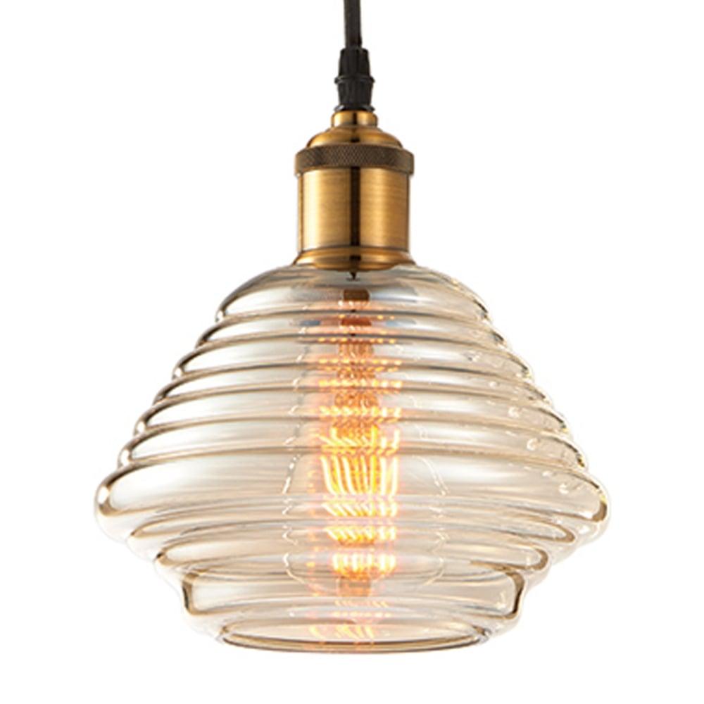 Endon 61355 williams tinted cognac glass antique brass pendant light williams tinted cognac glass and antique brass pendant light aloadofball Choice Image