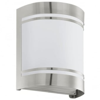 **EX-DISPLAY** Eglo Cerno Outdoor IP44 Stainless Steel Wall Light