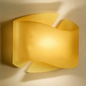 Albatros Amber Curved Glass Wall Light