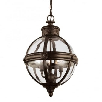 Adams 3 Light Pendant in British Bronze