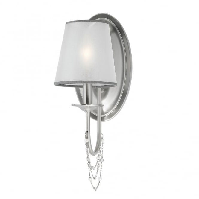 Feiss Aveline 1 Light Wall Light in Brushed Steel