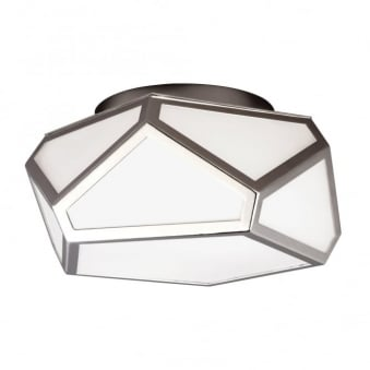 Diamond Flush Mount Ceiling Light in Polished Nickel