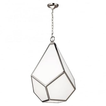 Diamond Large Pendant Chandelier with Opal Glass