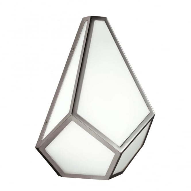 Feiss Diamond Wall Light in Polished Nickel