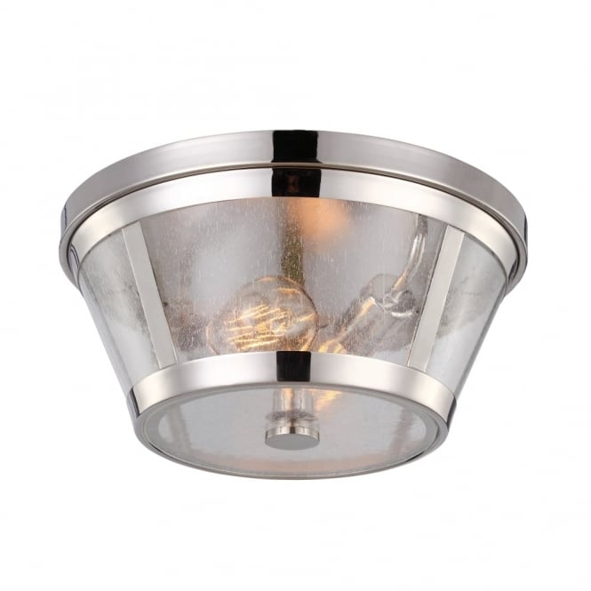 Feiss Harrow Flush Mount Ceiling Light In Polished Nickel