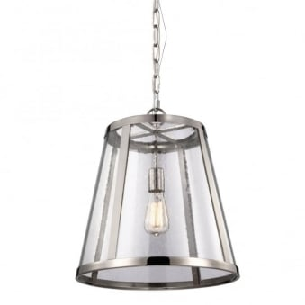 Harrow Medium Pendant Light in Polished Nickel