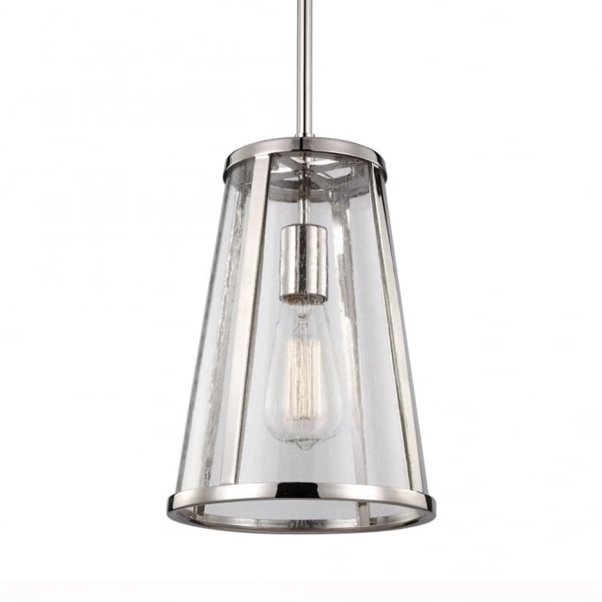 Feiss Harrow Small Pendant Light in Polished Nickel