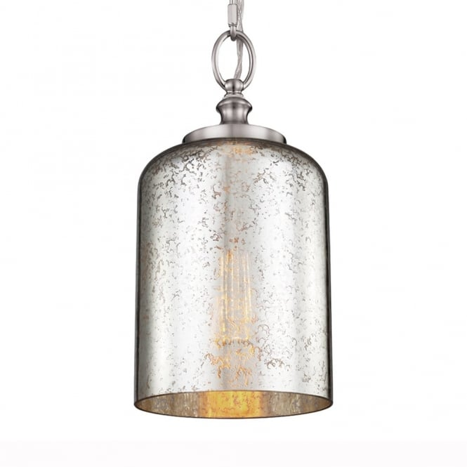 Feiss Hounslow Mini Pendant in Brushed Steel