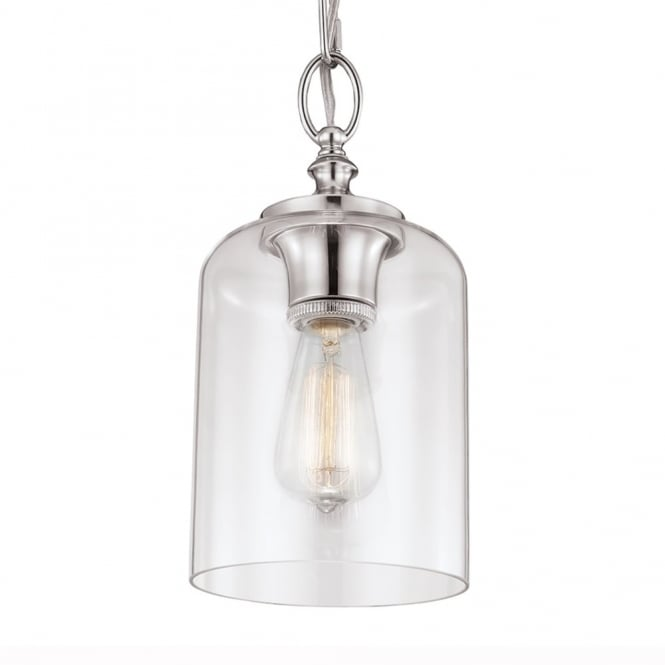 Feiss Hounslow Mini Pendant in Polished Nickel
