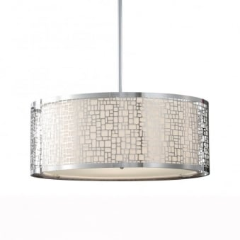 Joplin Large Pendant Light in Chrome