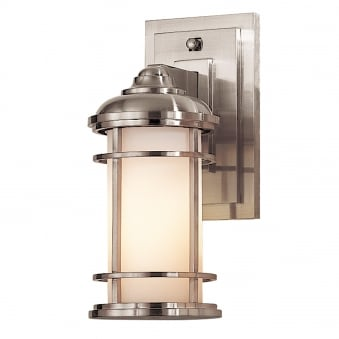 Lighthouse Outdoor Small Wall Lantern in Brushed Steel