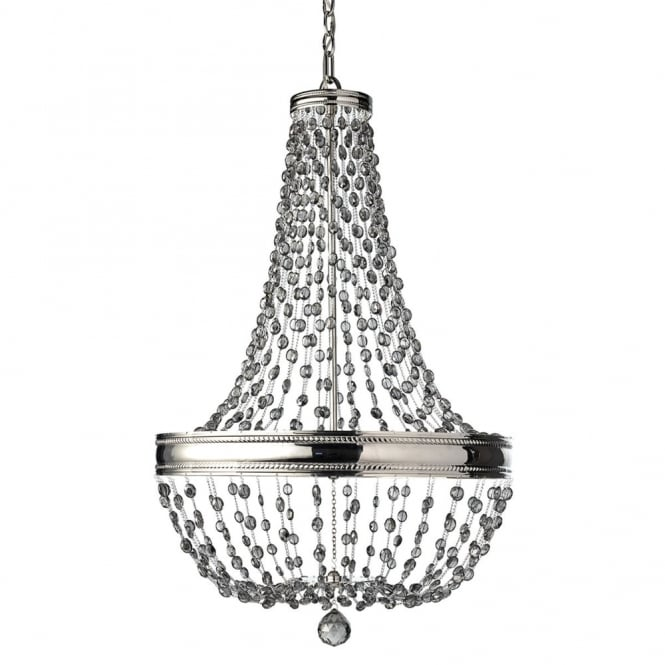 Feiss Malia 8 Light Chandelier In Polished Nickel