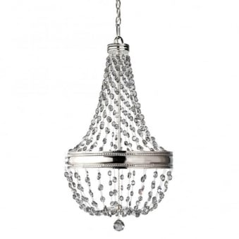 Malia Six Light Chandelier in Polished Nickel